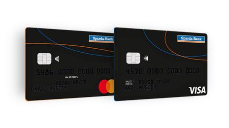 Mit der Mastercard oder der Visa Karte stehen Ihnen weltweit 36 Millionen Akzeptanzstellen zur Verfügung.
