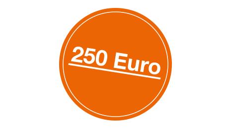 Grafik 250 Euro Prämie der Sparda-Bank Berlin